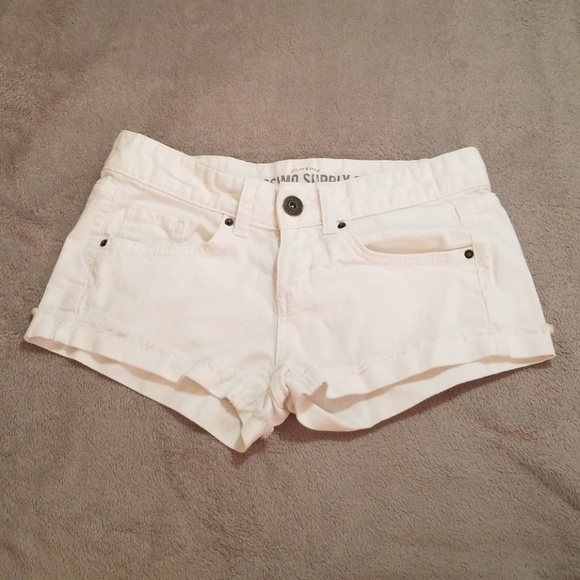 Mossimo Supply Co. Pants - Massimo white shorts size 3 with frayed ends